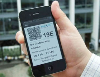 Boryspil airport introduce mobile check-in with boarding-pass in cell phone