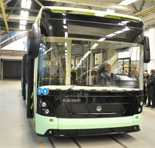 Electric Bus Electron E19101 went to its first route in Lviv