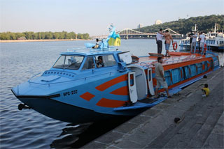 Hydrofoil Polissya-1 began Dnieper river cruises in Kiev