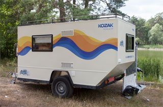 Caravan Kozak | First Ukrainian travel trailer | Outside View
