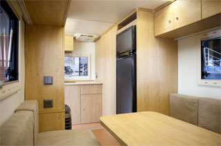 Caravan Kozak | First Ukrainian travel trailer | Kitchen