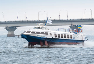Hydrofoils Nibulon-Express revive transportation on Dnieper and Southern Bug