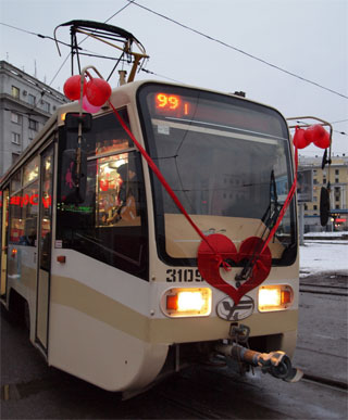 Valentine's Day Tram will operate in Kharkiv | On 14th of February 2016