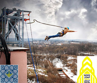Rope Jumping from Adrenalin Hotel in Kropyvnytskyi | 41 Meters
