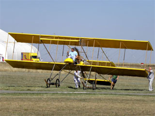 Airplane Farman-IV made the first flight in Odessa
