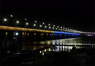 Kaidatskyi Bridge in Dnipro get Night Illumination