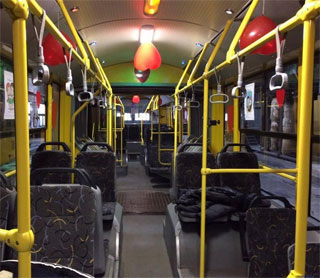 On Valentine's Day Kiev Public Transport be decorated