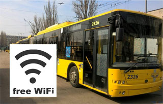 Free Wi-Fi in Kiev Public Transport | Ten Trolleybuses