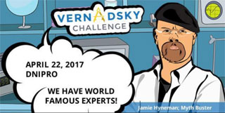 Vernadsky Challenge in Dnipro took part Jamie Hyneman of MythBusters