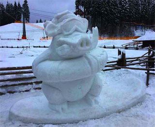 Bukovel Park of Snow Sculptures opened on 11.02.2018