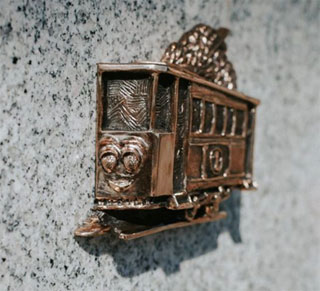 Kiev First Tram Mini Sculpture opened on 27.05.2018 in Kiev