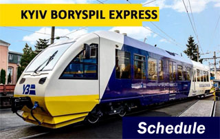 Kyiv - Boryspil Express Train Schedule | Fast KBP Airport Transfer