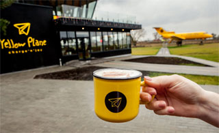 Restaurant Yellow Plane with Yak-40 opened 50 km from Kiev | Coffee