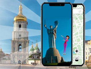 Kiev Virtual AR Guide present on 08.06.2019 | AR Project Touristl