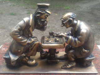 Kyiv Chess Mini Sculpture opened on 20th of July 2019 in Kyiv
