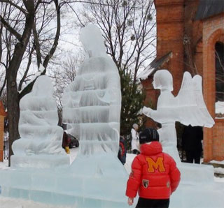 Ice Sculpture Festival started on 21st of January 2018 in Sumy