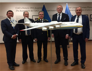 AN-225 Mriya Scale Model was installed in ICAO office in Montreal, Canada