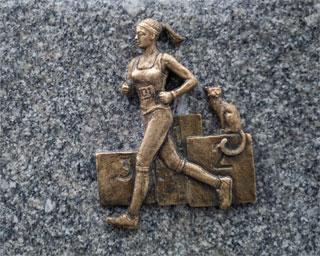 Dnipro Marathon Runner Mini Sculpture opened on 25.12.2020 in Dnipro