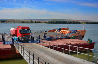 Isaccea - Orlivka Ferry Line open on 10.08.2020 on route Romania - Ukraine