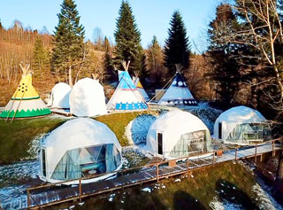 Glamping Edelweiss will be open on 20.01.2021 in Zveniv, Carpathians