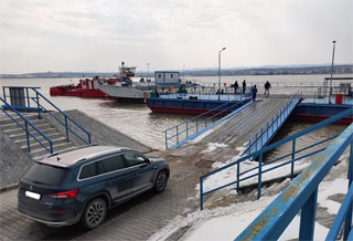 Isaccea - Orlivka Ferry Line on 12.02.2021 opened for Passenger Vehicles