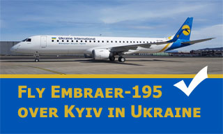 Christmas and New Year 2021 Air Tour over Kyiv by Embraer-195 of UIA