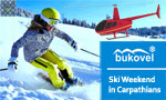 Kiev - Bukovel Helicopter Tour by Robinson R44, R66 | Ski Weekend