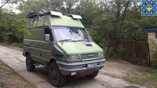 Kiev Campsite Guests | Tobi and Lydia | Iveco Expedition RV