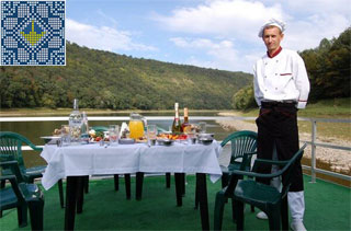 Ukraine Tour | Cruise on Dniester River | Restaurant