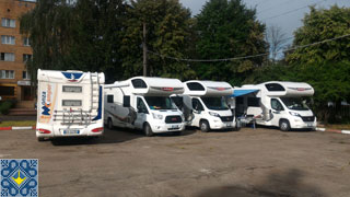 Kiev Campsite Chayka Guests | Govanni and Friends | Motor Homes Fiat Ducato Challenger and Rimor