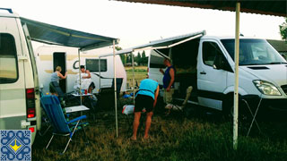 Odessa Campsite Guests | Slovenia | Camper Vans Knaus and Mercedes