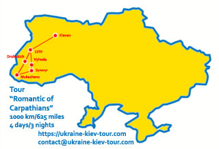 Ukraine Tour | Tour Romantic of Carpathians | Itinerary, Sights, Attractions and Map