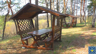 Beremytske Nature Park | Gazebos in forest