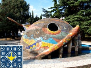 Ukraine Alushta Sights - Miracle Monster Fish Whale Fountain