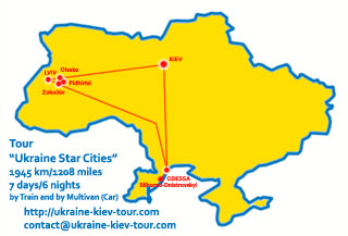Ukraine Tour | Tour Ukraine Star Cities: Kiev Lviv Odessa Itinerary, Sights, Attractions and Map